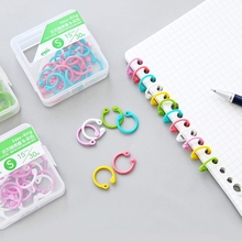 Yoofun Creative Plastic Multi-Function Circle Ring DIY Albums Loose-Leaf Colorful Book Binder Hoops Office Binding Supplies