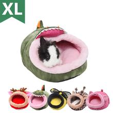 Dom dla zwierząt świnki morskie fretki chomiki jeże króliki holenderskie szczury Super ciepłe wysokiej jakości małe zwierzę łóżko tanie tanio ABLAZE ZA I Polar A113