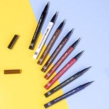6 cores maquiagem eyeliner moda suave rápido seco à prova dhalo água anti auréola fácil de remover maquiagem estágio desempenho compõem ferramentas