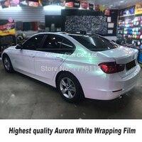 Höchste qualität glänzend Aurora weiß vinyl wrap folie car wrapping film Blase freies qualität Garantie 5m/10m/18m