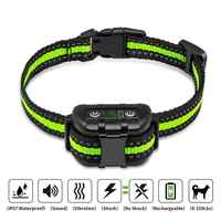 Anti rinde hund kragen Elektrische schock Vibration sound mit LED für kleine bis große hund keine bellen ausbildung kragen hund liefert