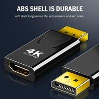 Convertitore compatibile Displayport DP a HDMI imposta accessori per Computer domestici per proiettore Monitor adattatore Audio Video 4K