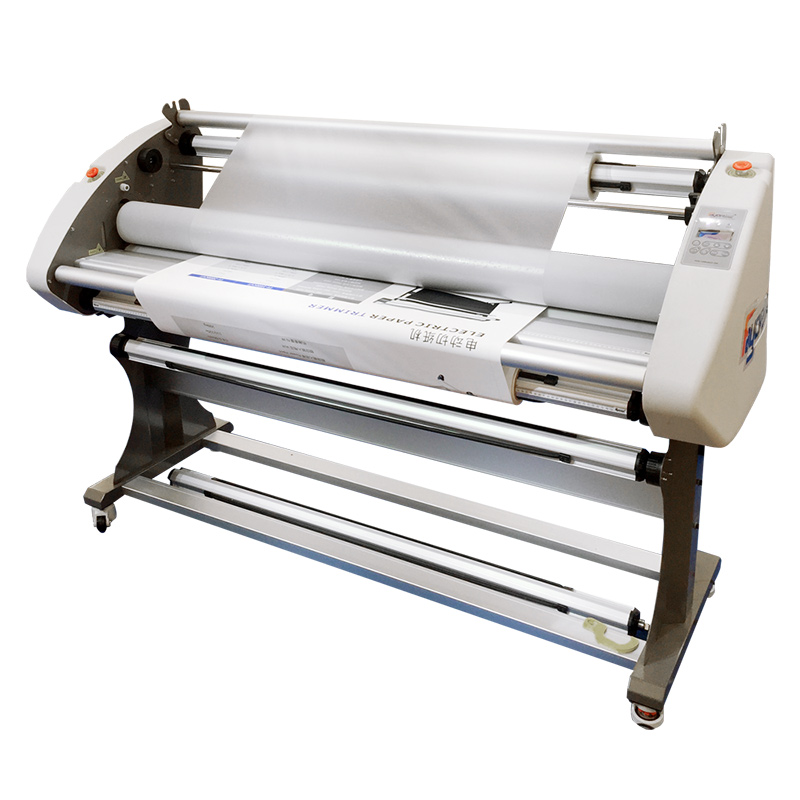Plastificatrice A caldo 1600 Automatico di Laminazione A Freddo Macchina per Film Adesivo In Vinile Della Flessione della Tela di canapa di Grande Formato Hot Roll Laminatore