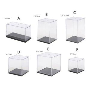 Прозрачная акриловая 5-сторонняя витрина, шкатулка для реквизит, органайзер, Пылезащитная витрина для экшн-фигурок, коллекционные игрушки