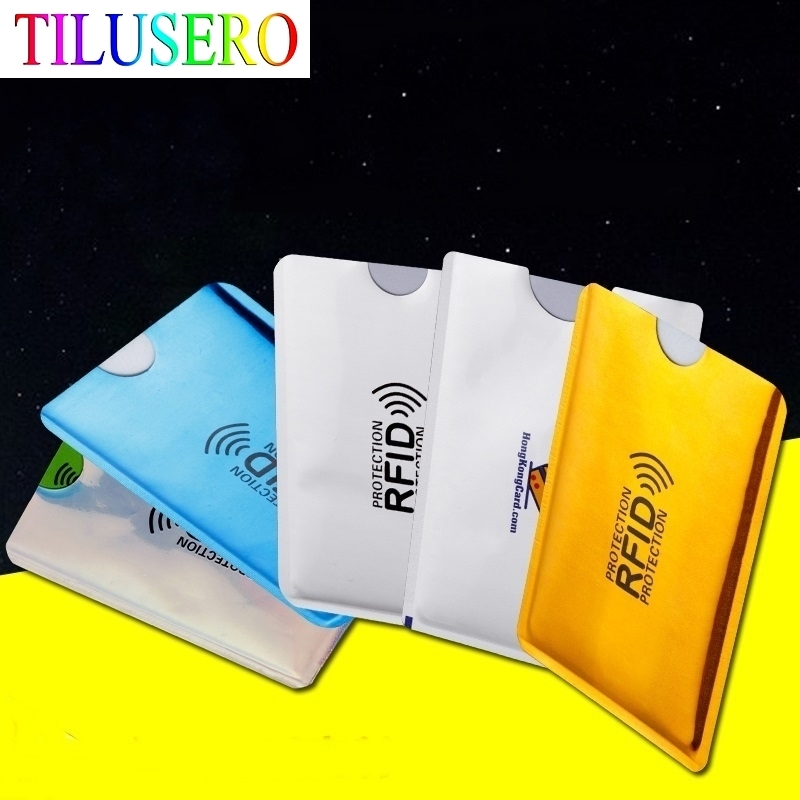 5PC Anti Rfid Credit Card Holder Bank Id Card Bag Cover Holder Identity Protector Case Portable Business Cards Card Holder