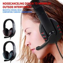 Wired Professional  Headphones With Microphone Over Ear HiFi Monitor Music Headset Earphone For Phone PC