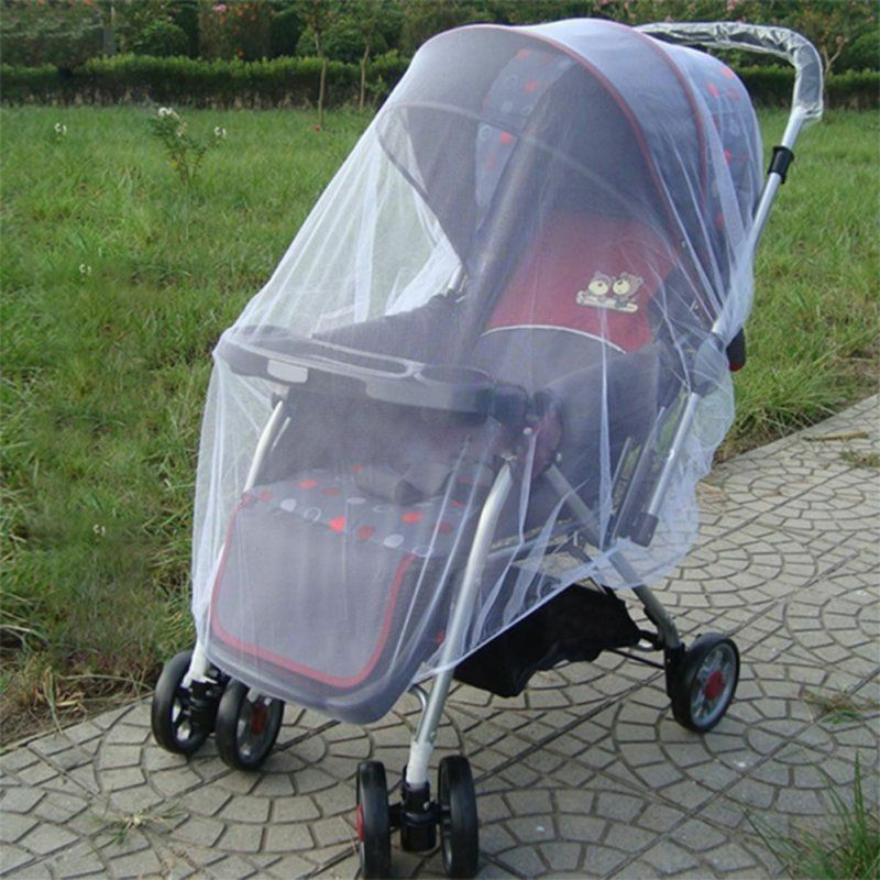 2020 Brand New Newborn Toddler Infant Baby Stroller Crip Netting Pushchair Mosquito Insect Net Safe Mesh Buggy White