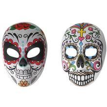 2Pcs Tag der Toten Cosplay Maske Kostüm Maske Partei Maske Streich Maske für Party Urlaub Festivals Dekoration