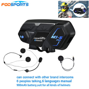 Image 1 - הכי חדש Fodsports M1 S פרו אופנוע אינטרקום 8 רוכבים קסדת אוזניות Bluetooth Bluetooth האינטרפון להתחבר BT S2 V6 TCOM SC