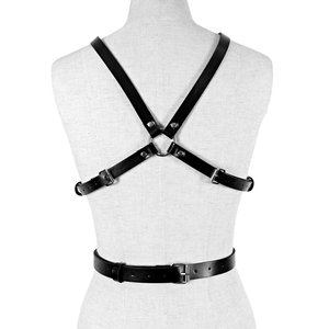 Image 3 - UYEE Dropshipping Fashion Women Garters High Quality Leather Harness Sexy Lingerie Belts Body Bondage Erotic Dress Straps LB 142
