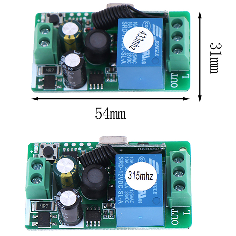 315//433MHz 220V 10A 1 Ch Receiver Wireless Relay RF Remote Control Switch Module