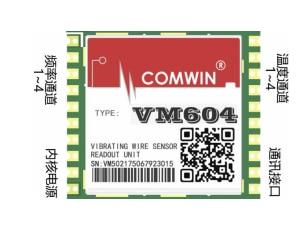 Вибрирующий провод считывания измерительный модуль VM604 небольшой объем встроенный Вибрационный проводной датчик измерения Универсальный