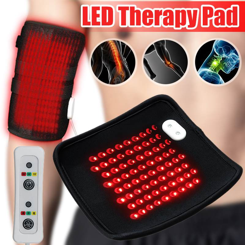 USB Infrared LED Therapy Pad Light Timer Red Light 630nm-660nm Deep Penetration For Pain Relief Safe Aids Healing Circulation