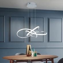 NEO Gleam Chrome/Gold Plated Modern led pendant lights for dining room kitchen bed Room Led pendant lamp 90-260V Free Shipping