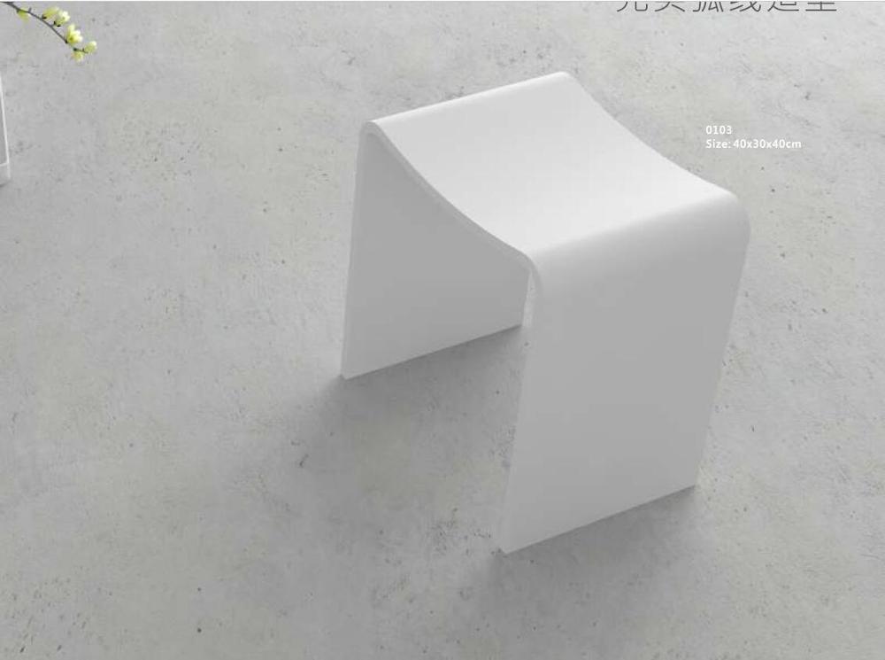 banc de siege de modelisation incurve parfait pour salle de bain tabouret de sauna en resine solide cabine de douche chaise de bain wd1113