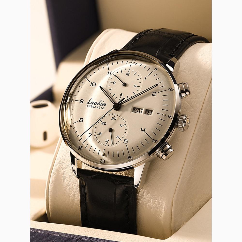 Fashion Automatic Mechanical Watches Multifunctional Male Watch 30M Waterproof Large Dial Steel Student  Wrist Watch 2020 New