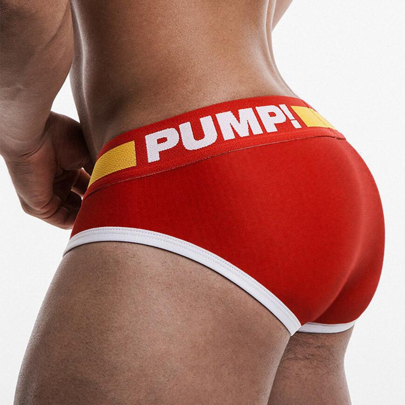 Gay Briefs Bikini Panties PUMP Men Underwear Men Jockstrap Kincker Sexy Male Brand Tanga