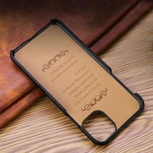 Image 5 - Funda de cuero genuino para iPhone, funda trasera de lujo para iPhone X XR XS Max 11Pro 12Pro SE 2020, 12 Mini 11 Pro Max 7 8 Plus