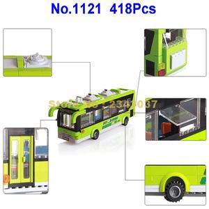 Image 4 -  418pcs city bus station enlighten building block 4  Toy