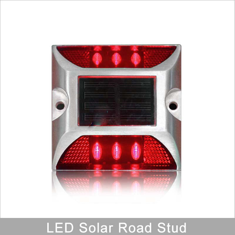 Steady Nody IP68 Road Safety Square Design Red Warning Light Solar Power LED Road Stud Marker
