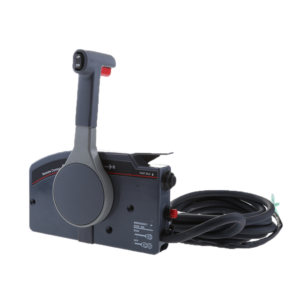 Outboard Engine 703 48205 16 00 Boat Motor Side Mount Remote Control Box for Yamaha, with Throttle and Shift Cables