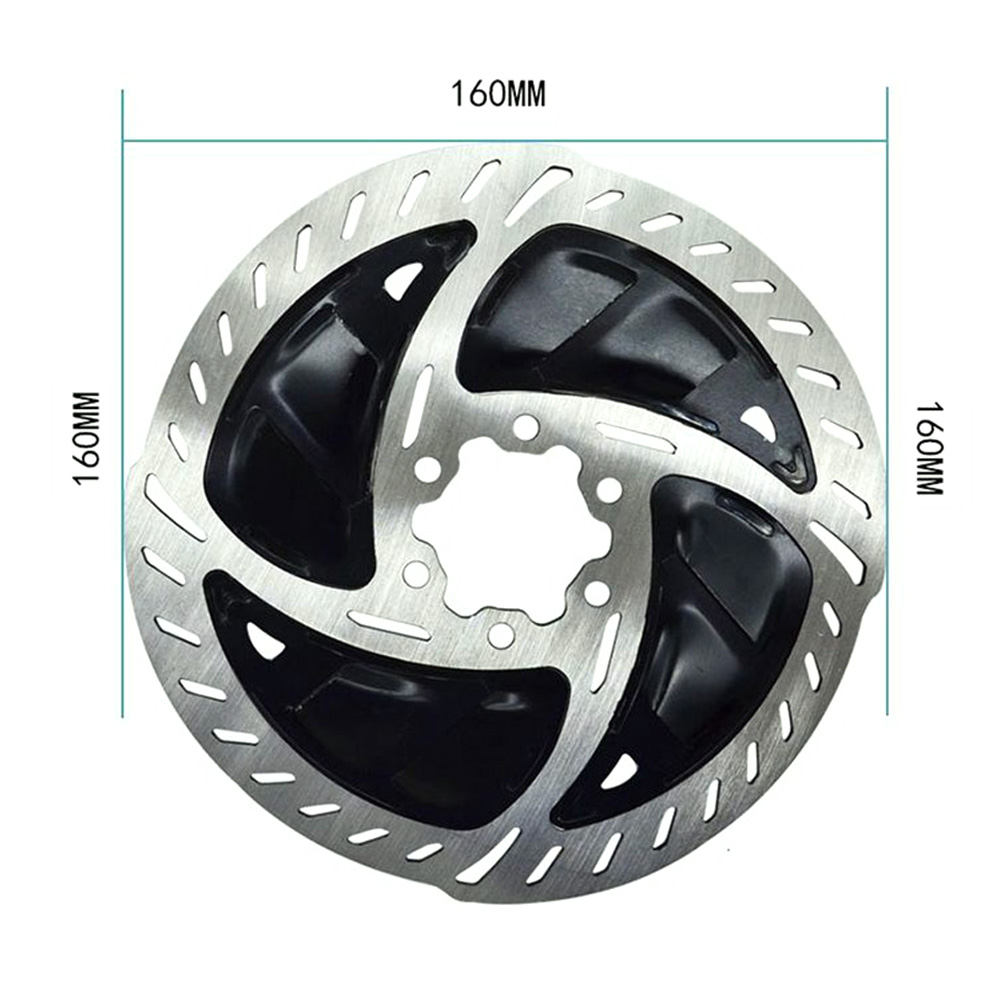 Bike Disc Brake Rotors 6 Inch Bicycle Radiator Mountain Bike Cooling Fins Disc Brake Pads with Bolts for MTB Road Bike