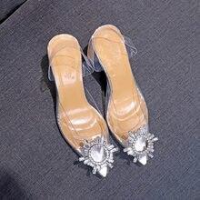 Women's sandals summer new versatile transparent net red shoes thin high heel Korean versatile women's shoes