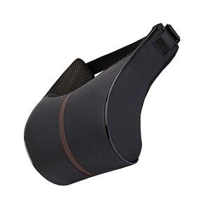 Image 5 - 1 шт. из искусственной кожи авто подушка для шеи пены памяти средства ухода за кожей Шеи RestFor стулья в подушки для сиденья автомобиля Офис облегчение боли