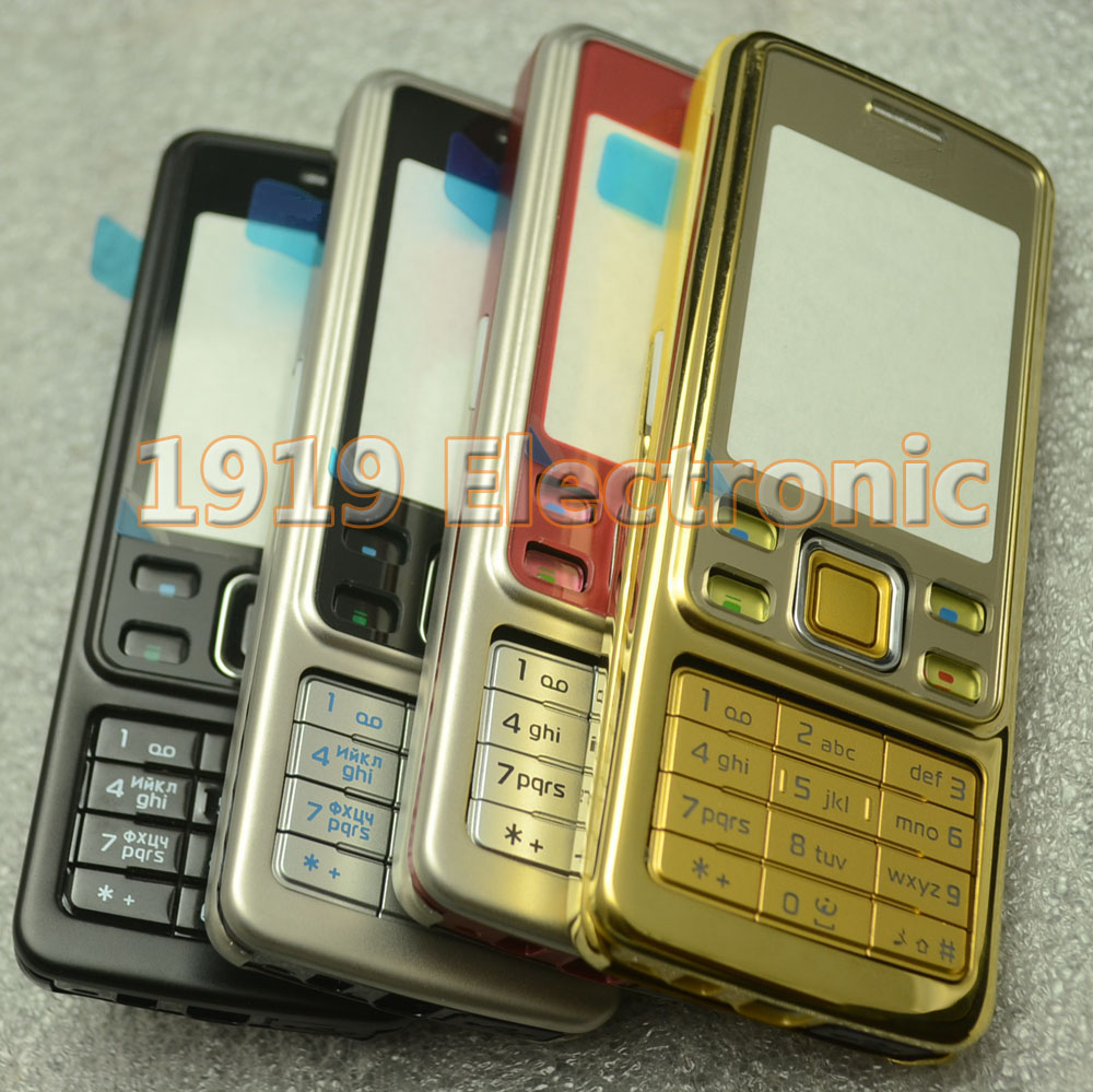 Case Russian-Keypad Mobile-Phone-Housing-Cover 6300--Tools Nokia New Or English Full-Complete