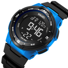 SMAEL New Digital Watches For Men Life Waterproof Sport Watch LED Light Casual Electronics Wristwatches Clock Digital Watch cheap PANARS Plastic 23inch 3Bar Buckle ROUND 20mm 18mm Acrylic Stop Watch Back Light Shock Resistant LED display luminous Auto Date