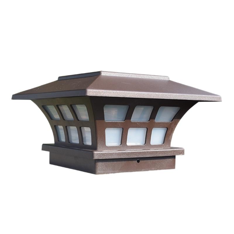 Solar Post Lights Outdoor Fence Deck Caps Light Solar Powered LED Lighting Waterproof For Garden Patio Decoration