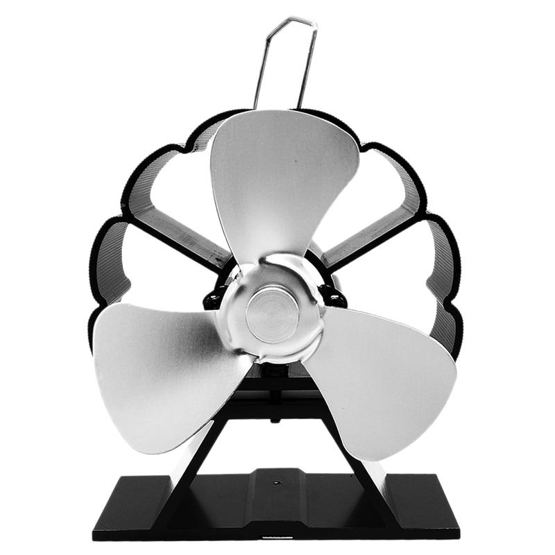 HHO-3-Blade Stove Fan Ultra Quiet Fireplace Wood Burning Eco Friendly Fan Wood/Log Burner Fan,Stove Fan Heat Powered Fireplace F