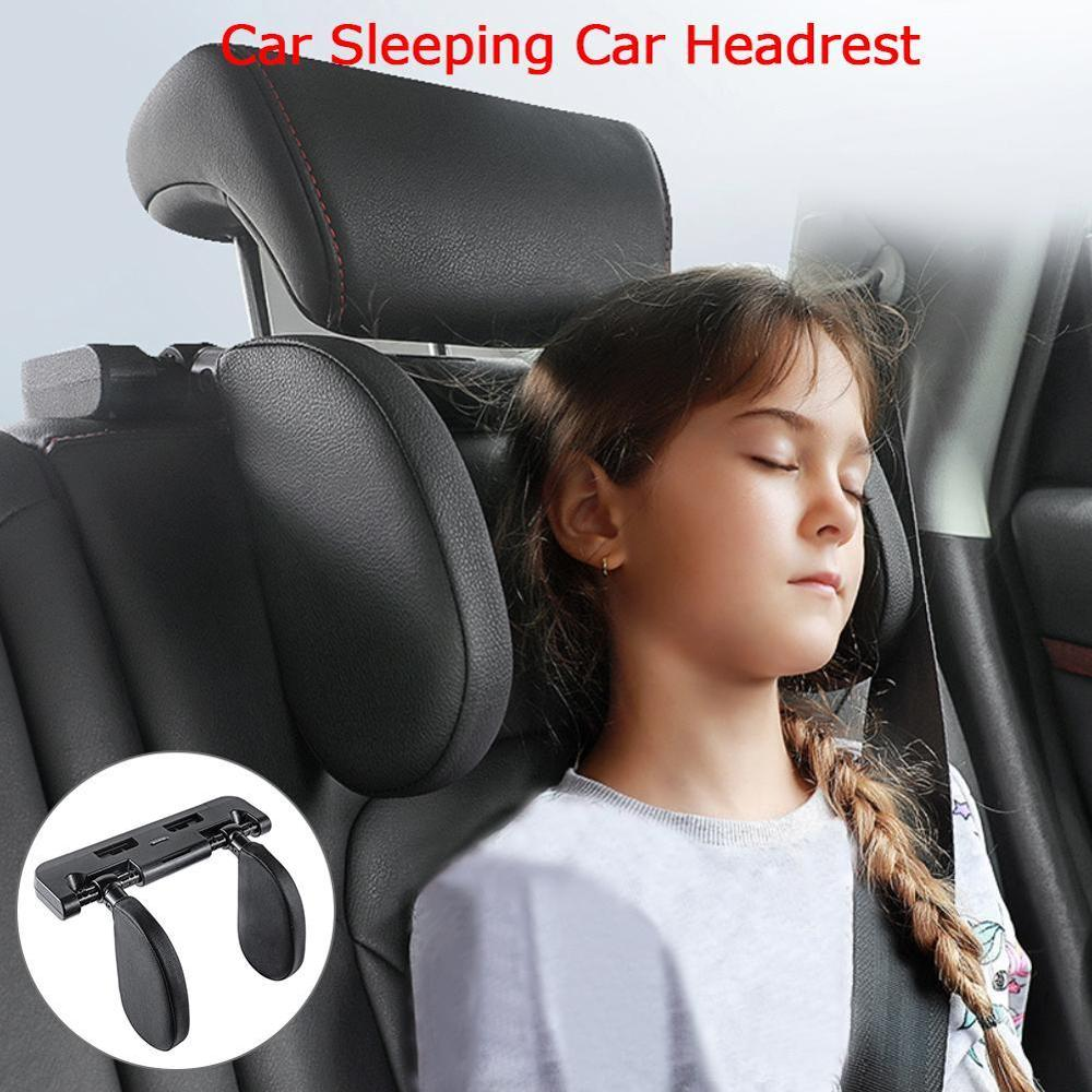 Car Seat Headrest Car Neck Pillow Sleep Side Head Support With High Elastic Nylon Retractable Support On Sides For Kids