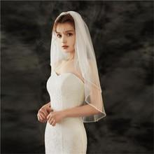Wedding-Veil Comb Short Crystal 2layer Velo-De-Diamante with Eropea Americana Handmade