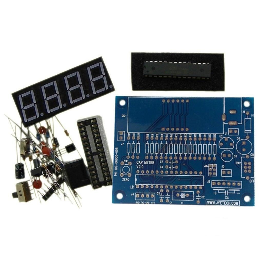 Medidor de Capacitor Medidor de Capacitância Placa do Módulo Alta Precisão Digital Mini Pacote Faça Você Mesmo Capacitância Mesa Produção Terno Kit Mod. 217272