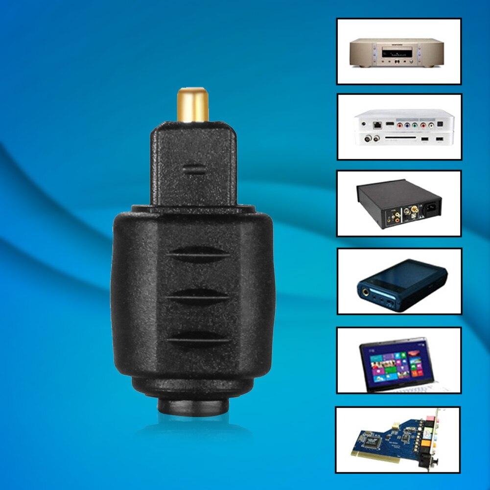 Optical 3.5mm Female Mini Jack Plug To Digital Toslink Male Audio Adapter NC99