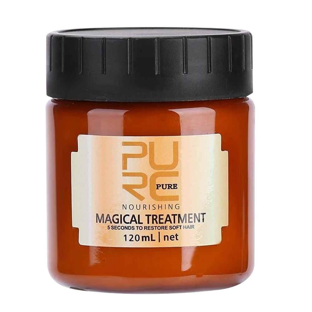Волшебная кератиновая маска для лечения волос PURC, 120 мл, эффективно восстанавливает поврежденные сухие волосы, 5 секунд, питает и восстанавл...
