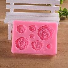 Rose Flowers silicone mold Cake Chocolate Mold wedding Decorating Tools Fondant Sugarcraft