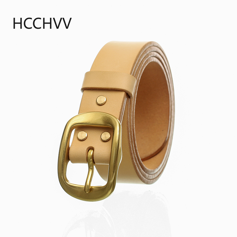 Handmade Belt Buckles For Men Thick Natural Vegetable Tanned Leather Leather Pin Buckle Mens Waist Belt Men's Belt Gifts For Men