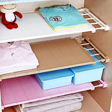 1PC Wardrobe Closet Organizer Shelf Bedroom Furniture Add Layer Save Space Kitchen Rack Holder Storage Cabinet Shelf(China)