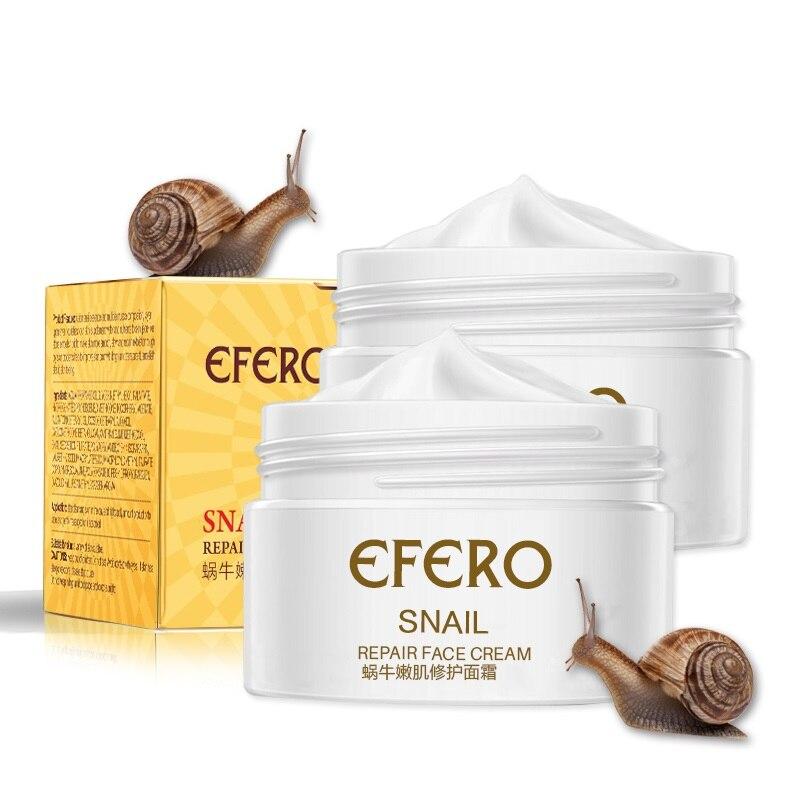 Efero Snail Cream Moisturizing Face Cream For Snail Repair Anti Aging  Essence Face Whitening Cream Wrinkles Firming Skin Care