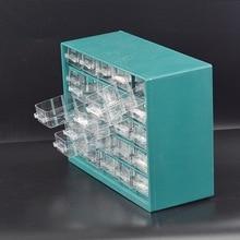 Настенный 25 ящиков, прозрачные пластиковые детали, оборудование для хранения и мастерская, комплектующие, ящик для хранения, органайзер для стола