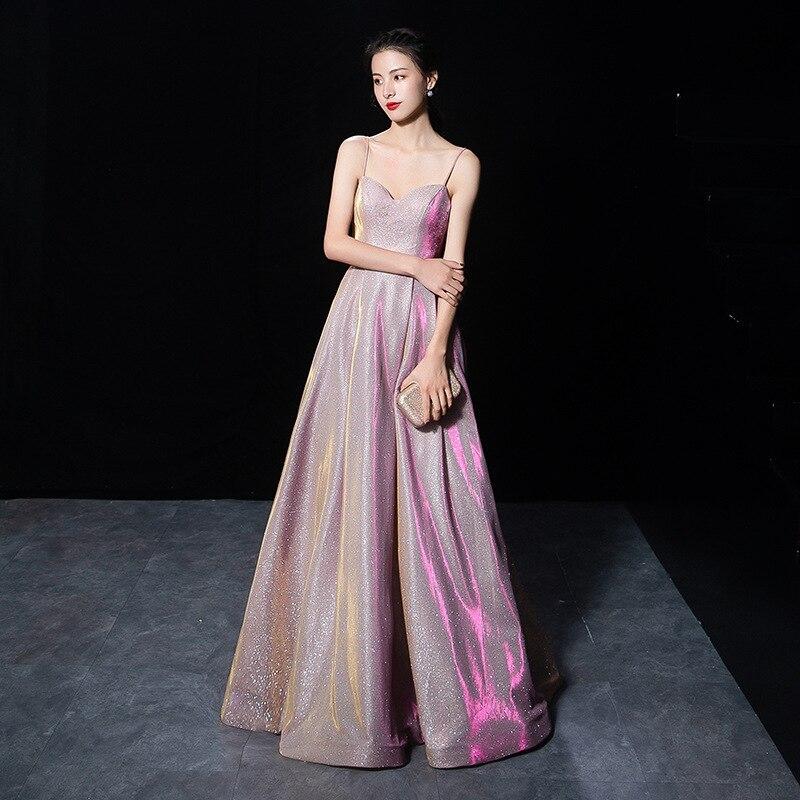 Nouvelles robes de célébrité Spaghetti sangle Aline robe d'actrice femmes robes de soirée de fête