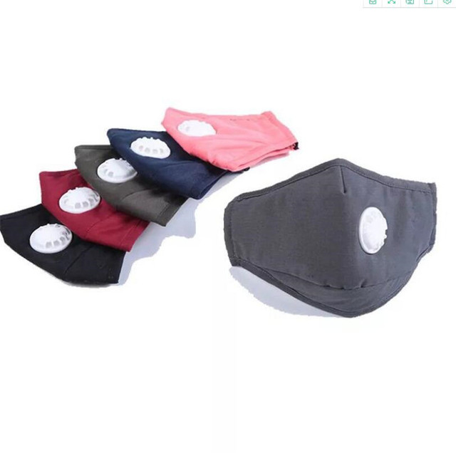 Multi Color Cotton PM2.5 Black Mouth Mask Anti Dust Mask Activated Carbon Filter Windproof Mouth-muffle Bacteria Proof Flu 1
