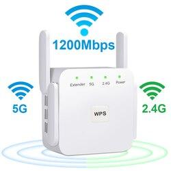 Kablosuz WiFi tekrarlayıcı 5G WiFi genişletici 1200Mbps Repiter Wifi uzun menzilli güçlendirici Wi-Fi sinyal amplifikatörü AC 2.4G 5ghz Ultraboost