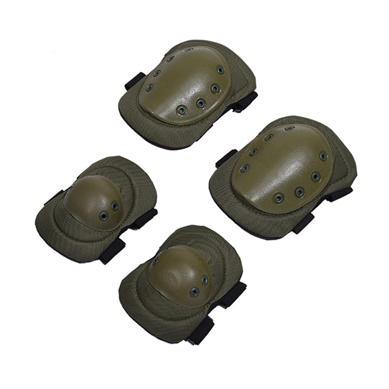 4 Pcs Sports Military Knee Elbow Protector Adult Tactical Hunting Combat Protective Pad Set Professional Gear Elbow & Knee Pads