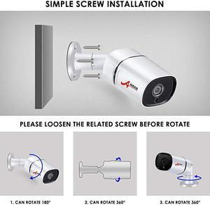 Image 2 - Anrun CCTV نظام الكاميرا الأمنية اللاسلكية نظام مراقبة بالفيديو عدة 1080P HD للرؤية الليلية في الهواء الطلق كاميرا واي فاي المنزل