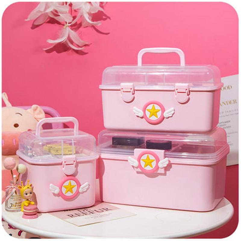 Sailor Moon Medicine Box Storage Box Cosplay Portable Multi-Layer Medical Drug Storage Box Anime Adult Child Storage Box  Gift