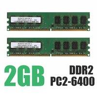Оперативная память для ПК, модуль памяти, настольный компьютер, PC2-6400 6400U, DDR2-800 МГц, DIMM, 240 PIN, полностью совместимый модуль памяти