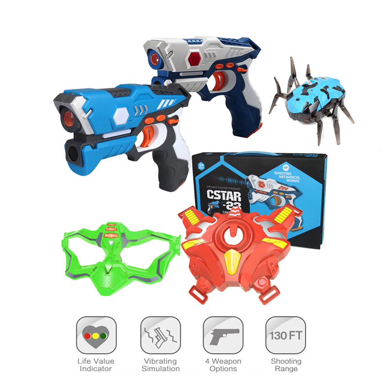2Pcs/lot Infrared Laser Tag Toy Guns Blaster Laser Battle Set Indoor & Outdoor Family Activity Sports Toys Gift For Kids Adults